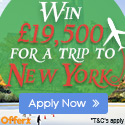Win £19,500 for a trip to New York - Offer for UK
