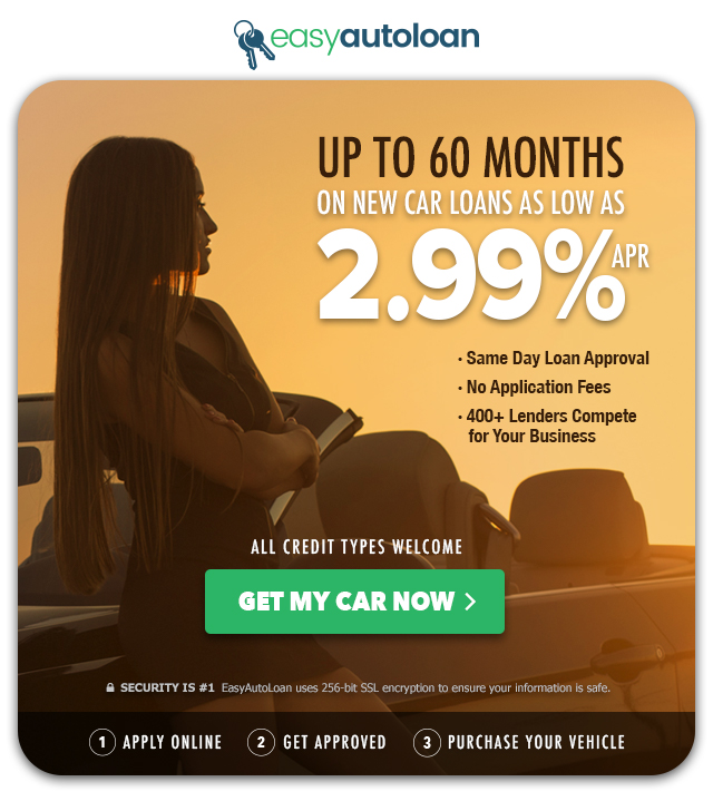 EasyAutoLoan - Up to 60 months on new car loans as low as 2.99% apr. Get my car now.