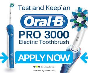 FREE Oral-B PRO 6500 SmartSeries Toothbrush